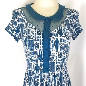 Dr Who Blue Dress in Excellent Condition Sz Small